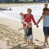 Family on beach, Kiama