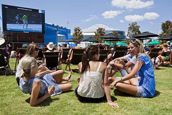 People at Australian Open 2012