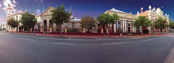 Panorama of historic buildings at Albury