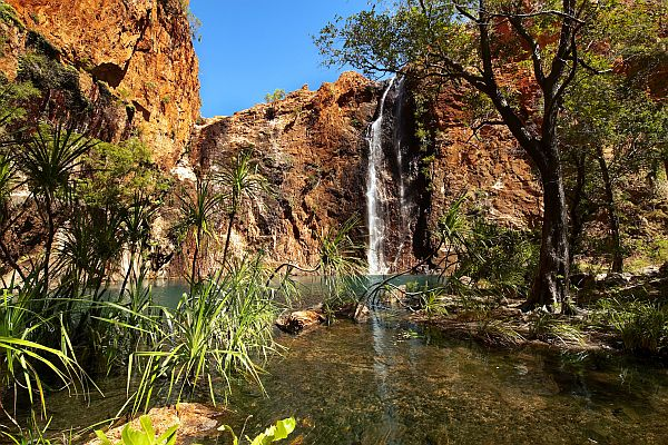 Miri Miri Falls, located on El Questro Station, west of Kununurra