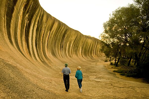 Couple at Wave Rock